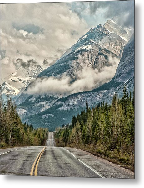 Road To The Clouds Metal Print by Jeff R Clow