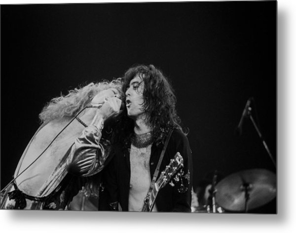 Robert Plant And Jimmy Page Metal Print by Art Zelin