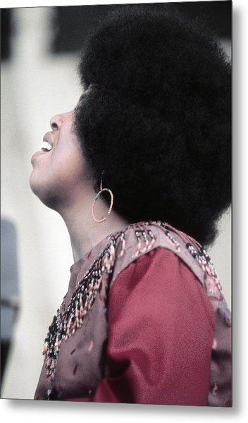 Roberta Flack At Newport Metal Print by Michael Ochs Archives
