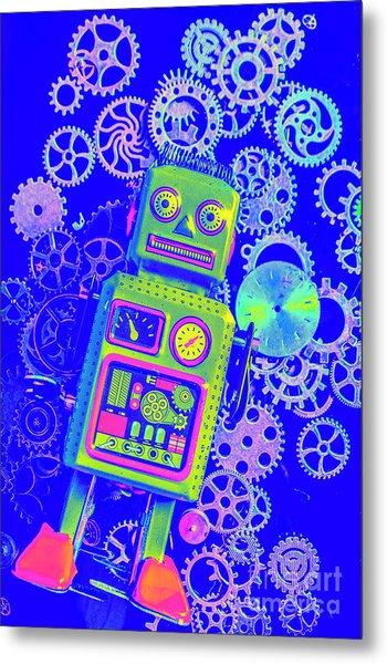 Robot Reboot Metal Print