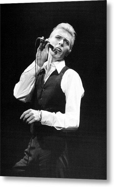 Rock Singer David Bowie In Concert At Metal Print