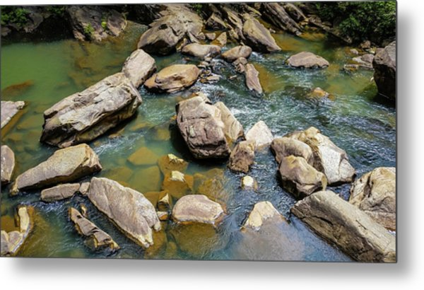 Rock Slide Metal Print