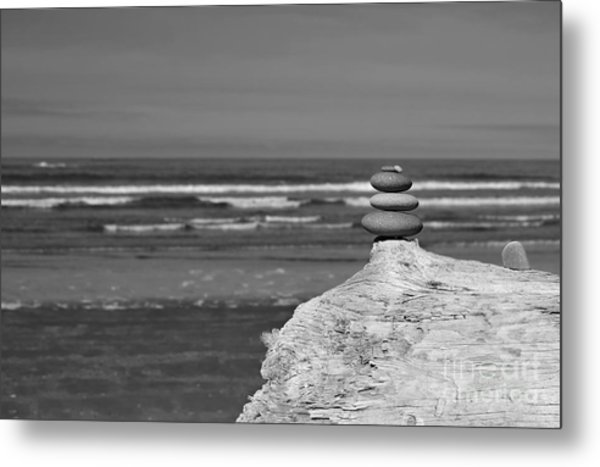 Rock Zen Four Metal Print