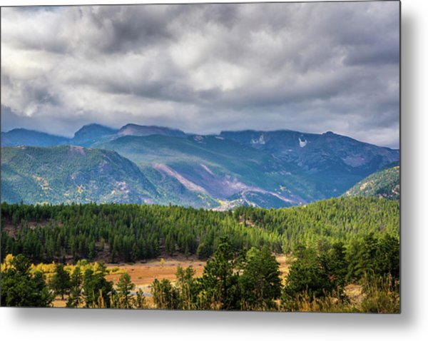 Metal Print featuring the photograph Rockies - Clouds by James L Bartlett
