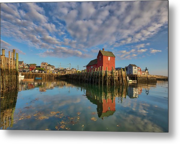 Metal Print featuring the photograph Rockport On Cape Ann Massachusetts by Juergen Roth