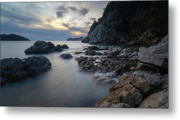 Rocky Coast Near Dubrovnik Metal Print