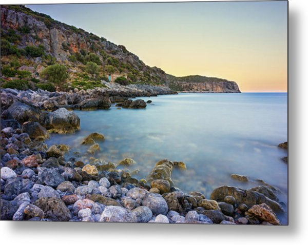 Rocky Coast Near Monemvasia Metal Print