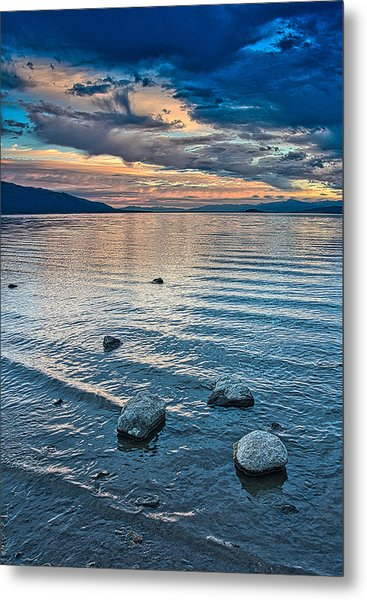 Rocky Lake Vista Metal Print
