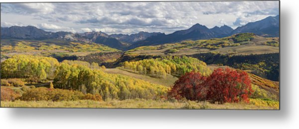 Rocky Mountain Valley Of Color Panoramic View Metal Print by James BO Insogna