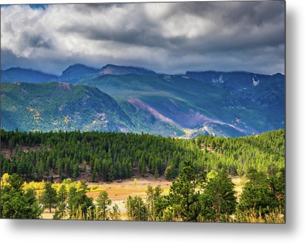 Metal Print featuring the photograph Rocky Mountains - Green by James L Bartlett