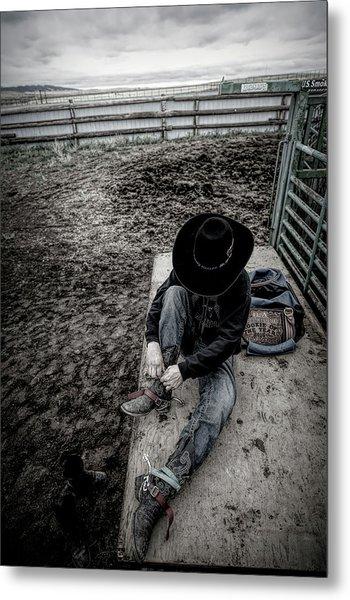 Rodeo Rider Metal Print