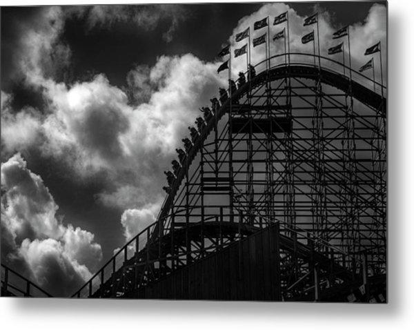 Roller Coaster Of Joy, Tayto Park, Dublin Metal Print