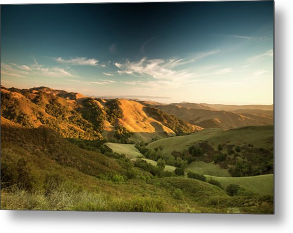 Rolling Hills In The Salinas Valley Metal Print
