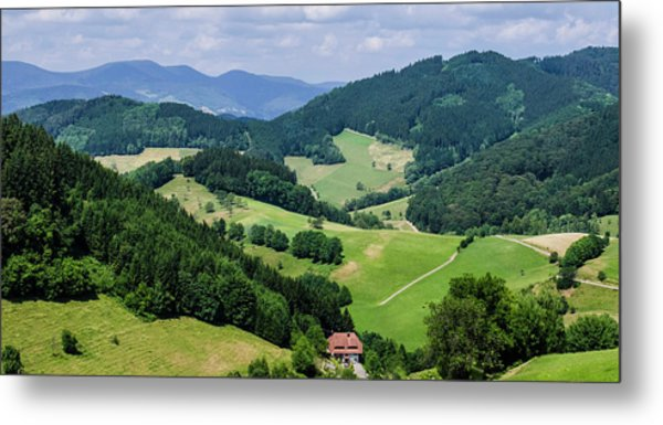Rolling Hills Of The Black Forest Metal Print
