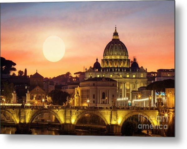 Roman Sunset Metal Print