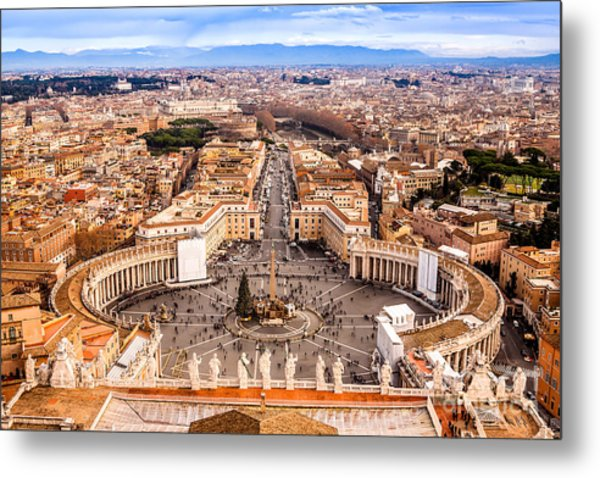Rome, Italy. Famous Saint Peters Square Metal Print