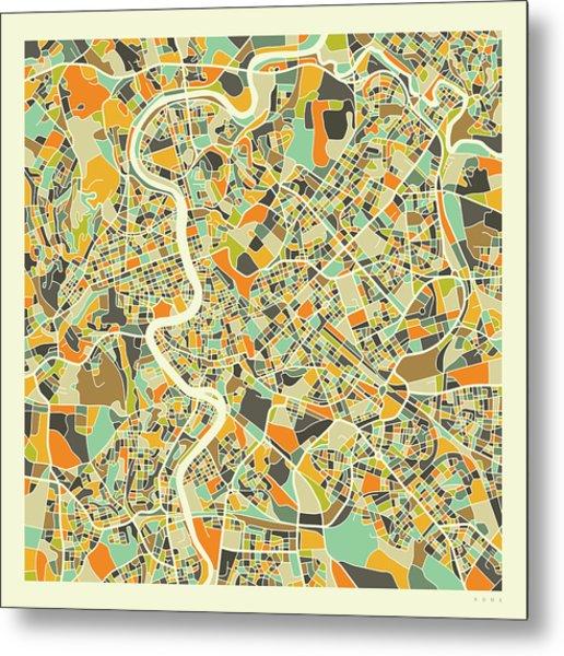 Rome Map 1 Metal Print