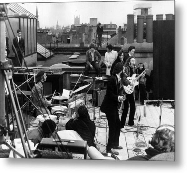 Rooftop Beatles Metal Print by Express