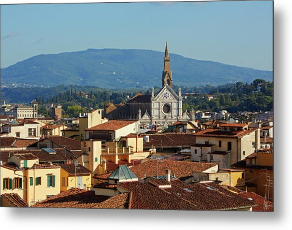 Rooftops And Skyline Of Florence Metal Print