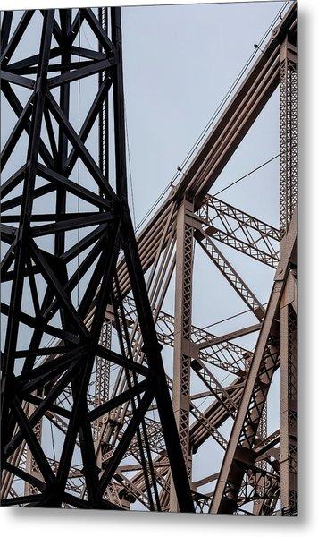 Roosevelt Island Tram Pylon And 59th Street Bridge Metal Print