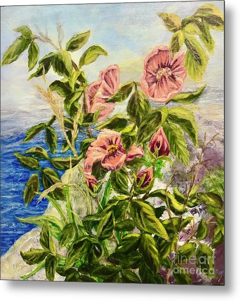 Rosa By The Sea Metal Print