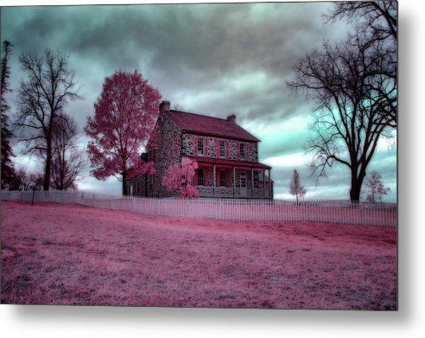 Rose Farm In Infrared Metal Print