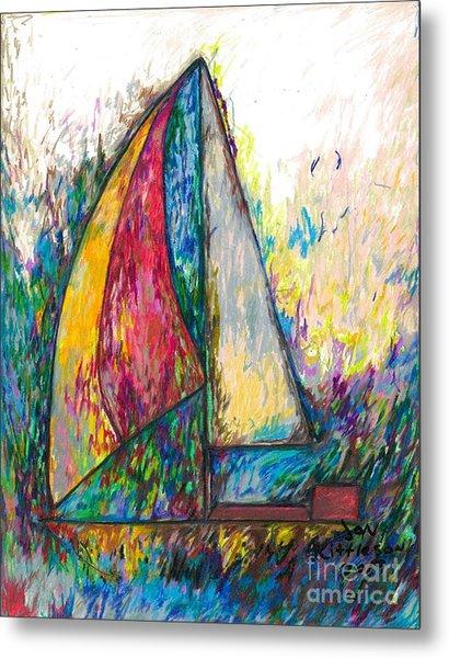 Rough Sailing Metal Print