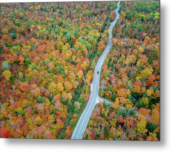 Metal Print featuring the photograph Route 42 Aerial by Adam Romanowicz