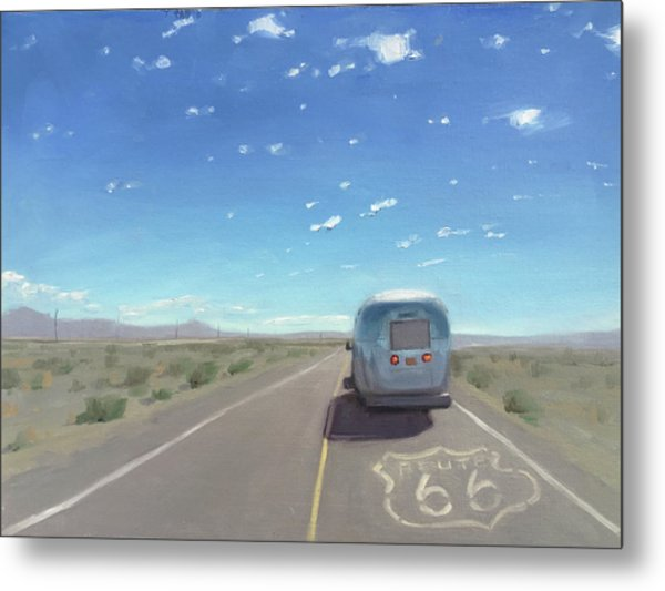 Route 66, Somewhere In California Metal Print