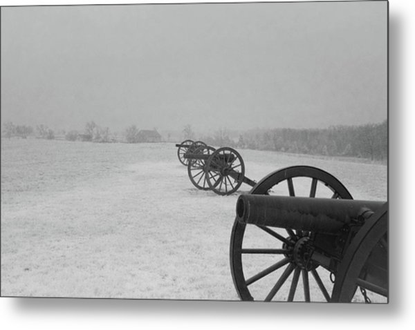 Row Of Cannon Metal Print
