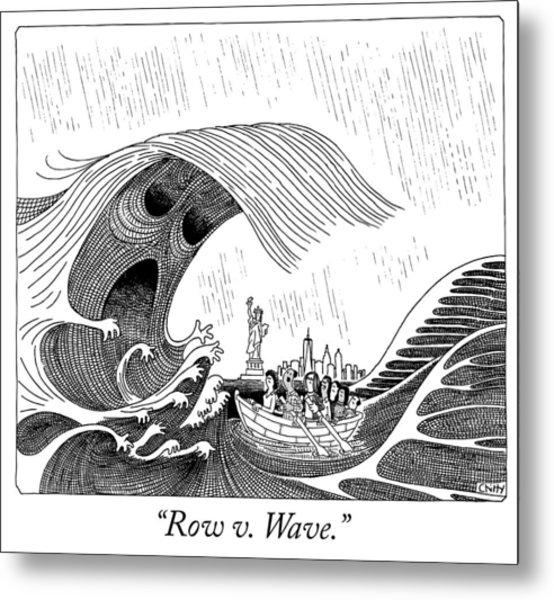 Row V Wave Metal Print by Tom Chitty