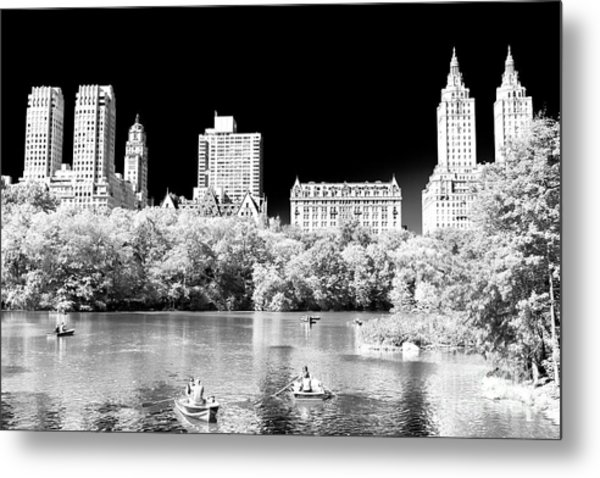 Rowing In Central Park New York City Metal Print