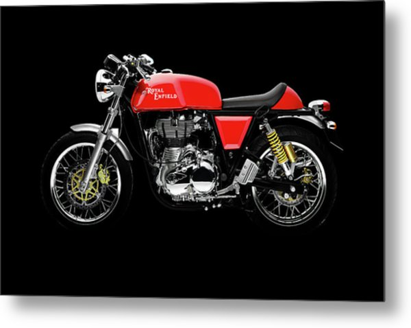 Royal Enfield Continental Gt Metal Print