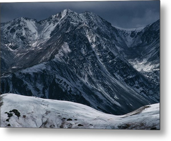 Rugged Rocky Mountains Metal Print by Aluma Images