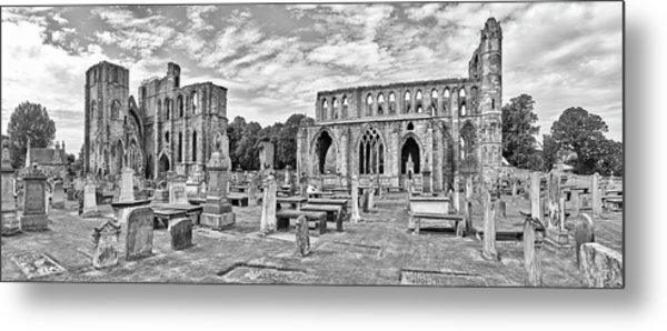 Ruins Of A Cathedral, Elgin Cathedral Metal Print