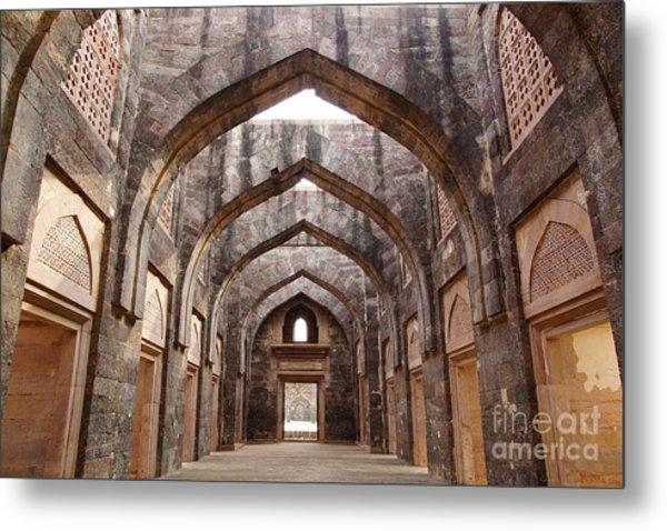 Ruins Of Afghan Architecture In Mandu Metal Print