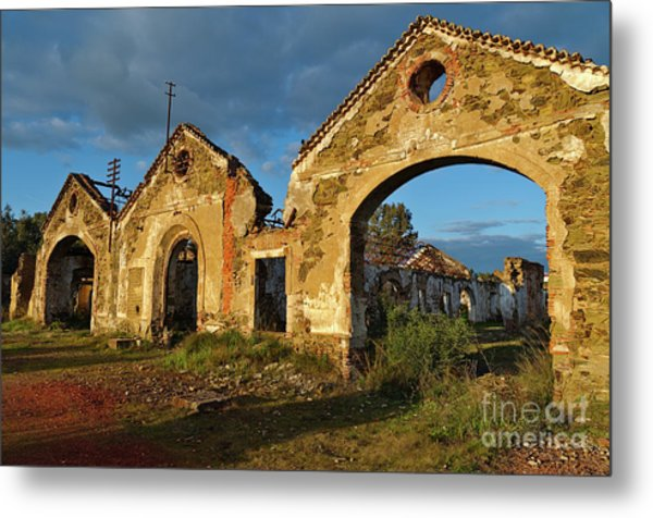 Ruins Of The Abandoned Mine Of Sao Domingos. Portugal Metal Print
