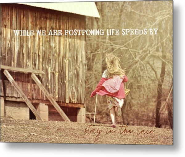 Run Emily Run Quote Metal Print by JAMART Photography