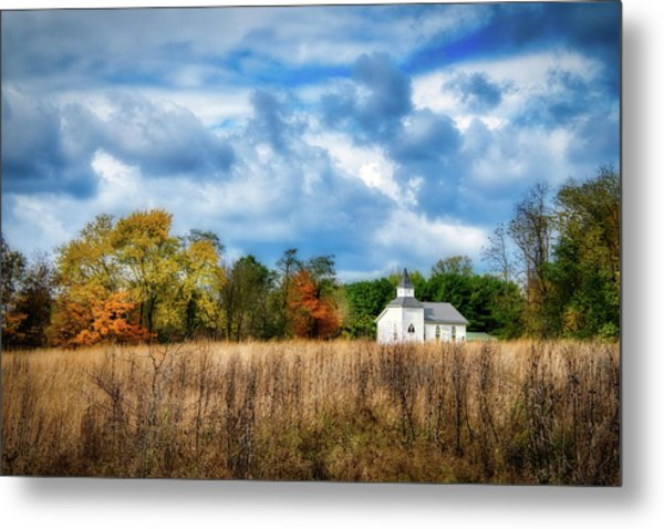 Rural Church Metal Print