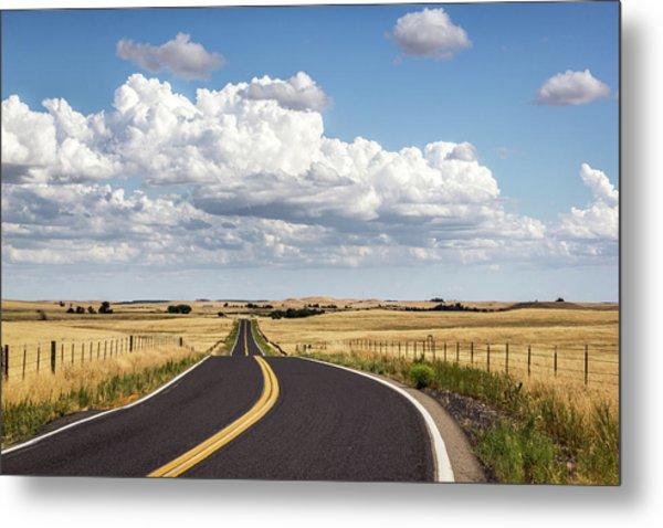 Rural Highway Metal Print