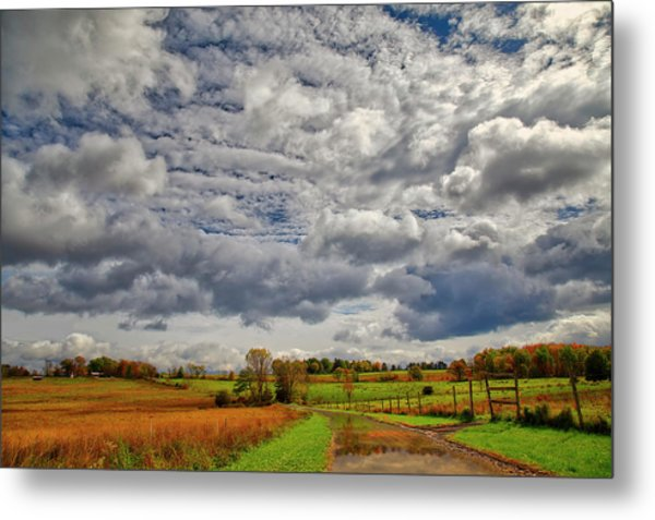Metal Print featuring the photograph Rural New Paltz Hudson Valley Ny by Susan Candelario