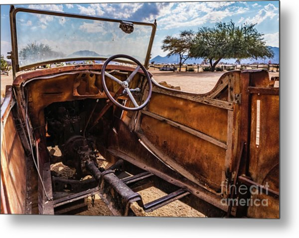 Rusty Car Leftovers Metal Print