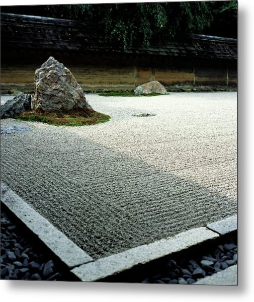 Ryoanji Zen Garden, Close Up Metal Print