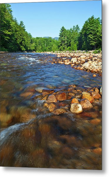 Saco River Rapids Metal Print by Wholden