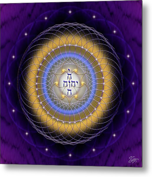 Metal Print featuring the digital art Sacred Geometry 727 by Endre Balogh
