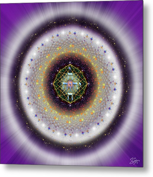 Metal Print featuring the digital art Sacred Geometry 729 by Endre Balogh