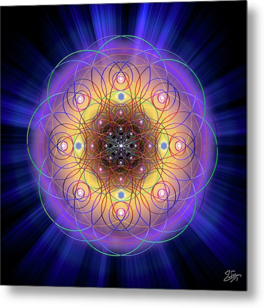 Metal Print featuring the digital art Sacred Geometry 732 by Endre Balogh