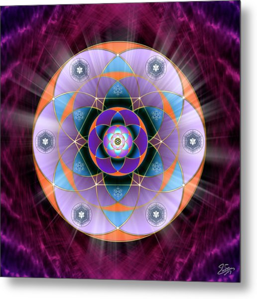 Metal Print featuring the digital art Sacred Geometry 733 by Endre Balogh