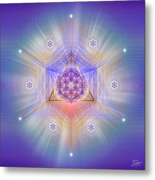 Metal Print featuring the digital art Sacred Geometry 734 by Endre Balogh
