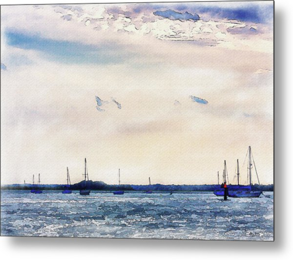 Metal Print featuring the digital art Safe Harbor by Barry Jones